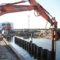 Ограждение шпунтом при строительстве каналов