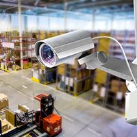 установка видеонаблюдения на склад
