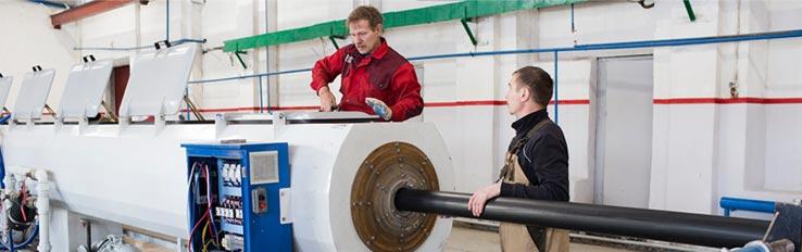 Техника безопасности при производстве полиэтиленовых труб