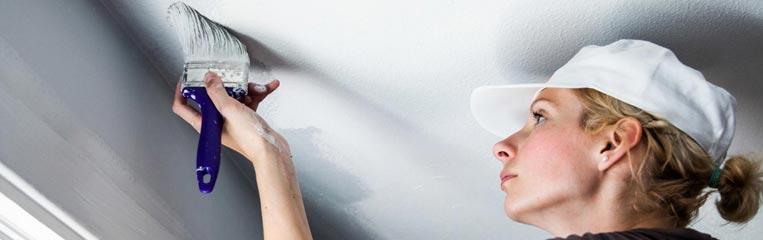 Ремонт потолка, начиная с грунтования и заканчивая окраской